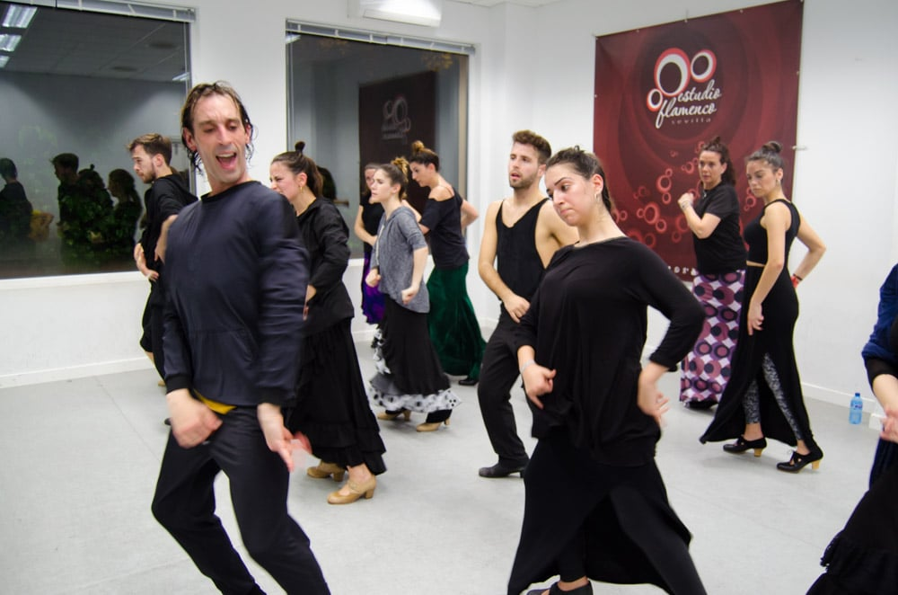 Rubén Olmo en Estudio Flamenco Sevilla