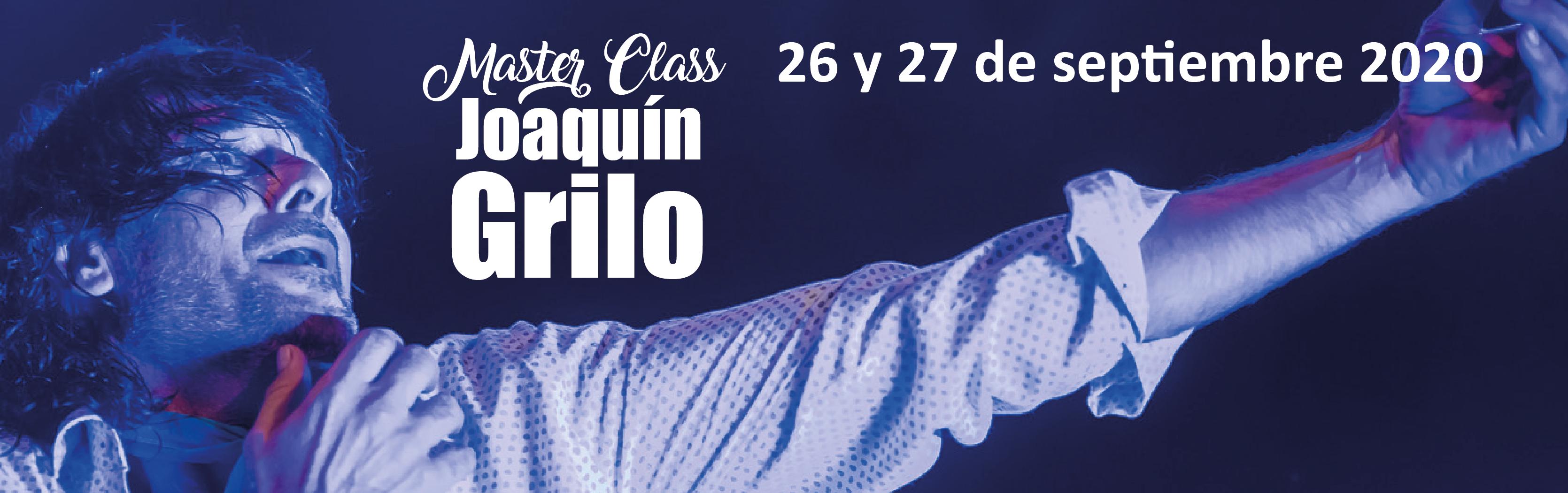 master class Joaquín Grilo 26 y 27 de septiembre 2020